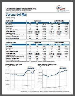 Corona Del Mar Real Estate Market Report by Jay Valento