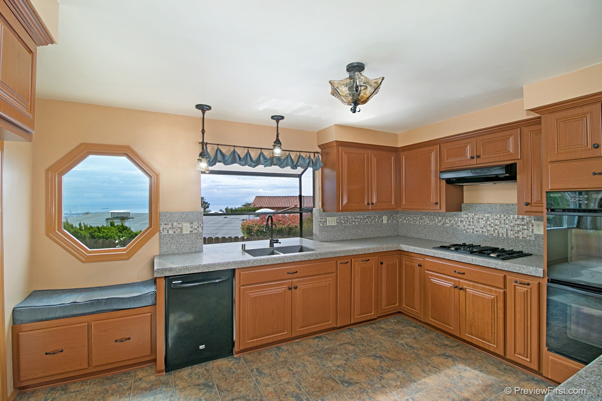 Upgraded Kitchen with coastline views