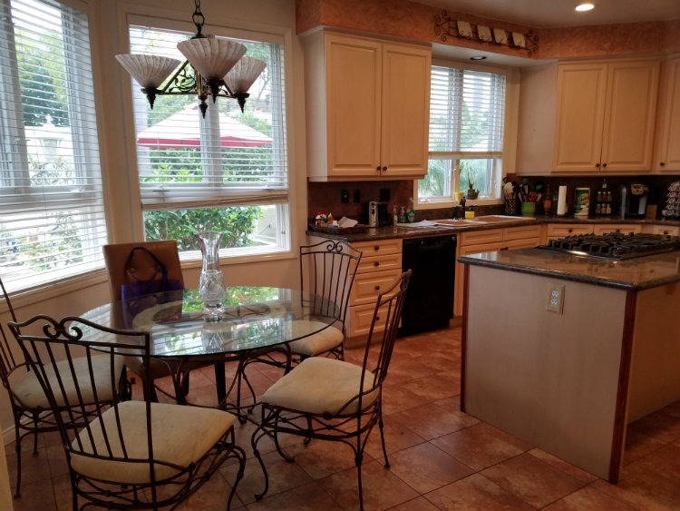 Kitchen highlighting breakfast nook Garden Grove Homes