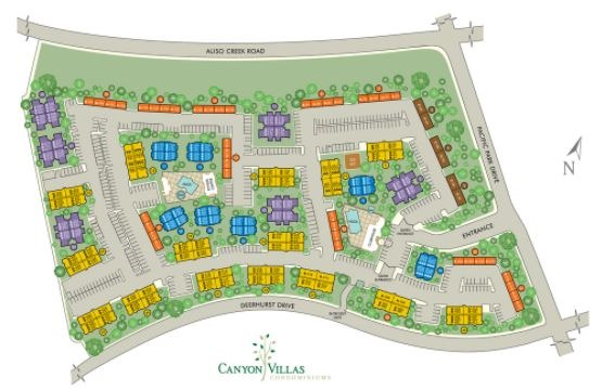 Canyon Villas Map of Community